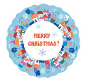 Christmas and New year greeting card Royalty Free Stock Image
