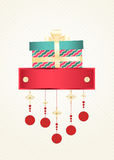 Christmas and New Year greeting card Stock Photos