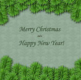 Christmas and New Year greeting card. For invitation or greeting Stock Images