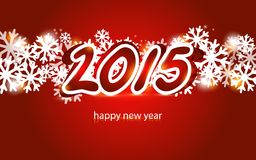 2015 Christmas and New Year Greeting Card. 2015 Christmas and New Year lettering Greeting Card Vector Illustration