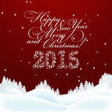 Christmas and New  Year Greeting  Card. Merry Christmas and New Stock Photography