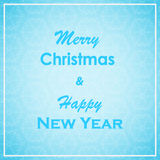 Christmas and New Year greeting card. Merry Christmas and New Year lettering design. Winter Holiday background. stock images