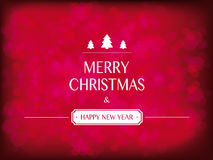 Christmas and new year greeting card on red background Royalty Free Stock Photography