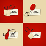 Christmas and New Year greeting card. Set of vectors Stock Image