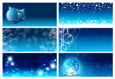 Christmas and New Year Greeting Card Templates Stock Images