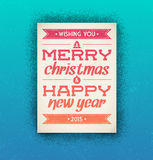 Christmas and New Year greeting card. With typography Royalty Free Stock Photo