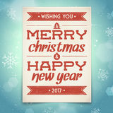 Christmas and New Year greeting card. With typography Stock Photo