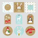Christmas New Year greeting card vector illustration