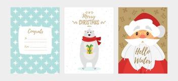 Christmas New Year greeting card Stock Image