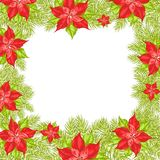 Christmas and New Year greeting card. Stock Photos