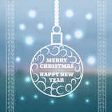 Christmas and New Year greeting card Vector illustration Blurred. Background eps 10 Stock Images
