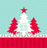 Christmas and new year 2015 greeting card Stock Image