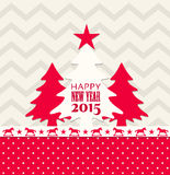 Christmas and new year 2015 greeting card. Vector illustration, eps 10 with transparency Stock Image