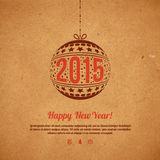 Christmas and New Year 2015 greeting card. Stock Photography