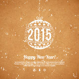 Christmas and New Year 2015 greeting card. Stock Image
