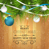 Christmas and New Year greeting card. Stock Photography
