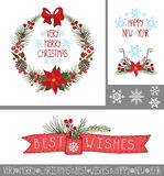 Christmas,New year greeting cards,banners,decor Stock Photo