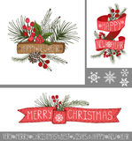 Christmas,New year greeting cards,banners Stock Image