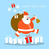 Christmas and New Year greeting cards. Vector design eps 10 Stock Photo