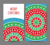 Christmas and New Year greeting cards vector set Royalty Free Stock Image