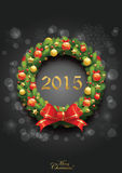 Christmas and new year greeting design template Stock Photos