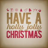 Christmas and new year Greeting Design Royalty Free Stock Photo