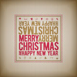 Christmas and new year Greeting Design Royalty Free Stock Photos