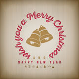 Christmas and new year Greeting Design Stock Photography