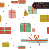 Christmas and New Year greeting pattern. Stock Photography
