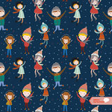 Christmas and New Year greeting pattern. Stock Photos