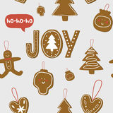 Christmas and New Year greeting pattern. Royalty Free Stock Photography