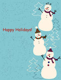 Christmas and New Year greetings card Stock Image