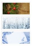 Christmas and New Year Greetings Cards Stock Photo