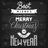 Christmas and New Year Greetings Royalty Free Stock Photos