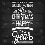 Christmas and New Year Greetings Stock Photos