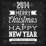 Christmas and New Year Greetings Stock Images
