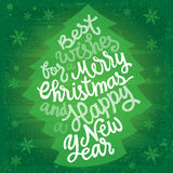 Christmas and New Year Greetings Stock Photo