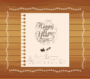 Christmas and new year hand draw Royalty Free Stock Photography