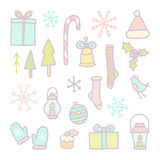 Christmas and New year hand drawn objects. Vector illustration Stock Images