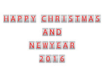 Christmas and New Year 2016 vector illustration
