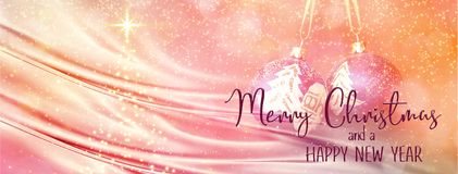 Christmas and New Year Holiday background banner vector illustration