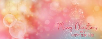 Christmas and New Year Holiday background banner. royalty free stock image