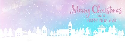 Christmas and New Year Holiday background banner stock illustration