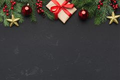 Christmas or New Year holiday creative background Royalty Free Stock Images