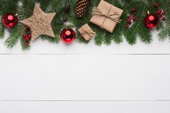 Christmas or New Year holiday creative background Royalty Free Stock Photos