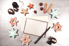 Christmas and new year holiday frame royalty free stock images