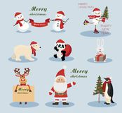 Christmas and New Year holiday Icons Stock Images