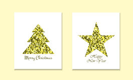 Christmas New Year Holiday Line Icons Set Circular Shaped. Vector Illustration of Decoration . Winter Holiday Items. Stock Photos