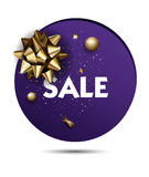 Christmas or New year holiday sale price circle sticker Stock Photo