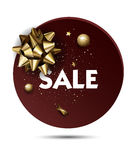 Christmas or New year holiday sale price circle sticker Royalty Free Stock Photography